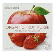 Clearspring | Apple & Strawberry Puree - org | 1 x 2x100g