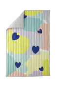 Greenbuds Abstract Affection Organic Cotton Crib/Toddler Comforter with Wool Fill