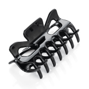 Amber Jewellery 9cm Square Shaped Hair Claw Clip Clamp Hair Accessory - Black Or Brown Black HA27571