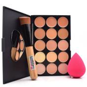Dolovemk Face Makeup Set, Contour Palette With Mirror Concealer + Brush + Sponge Beauty Blender