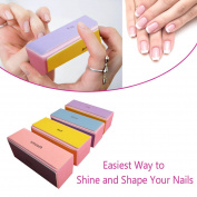4 Way Nail Buffer Blocks - For Everlasting Nail Beauty - Safe For Your Nails