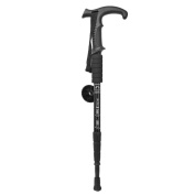 Black 4 Section Walking Stick Pole Climbing Outdoor Sports Support