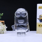 Creative cute Dora A Dream Doraemon saving bottle piggy bank diy gift transparent glass not only into the change jar monster