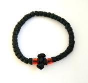 Handmade Christian Orthodox Greek Chotki Komboskoini Prayer Rope Waxed Thick Black