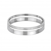 2Jewels Sopra Le Righe Bangle Stainless Steel with Cubic Zirconia diameter 6 cm 231486