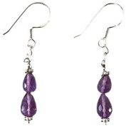 Amethyst & 925 Sterling Silver Clip On Earrings