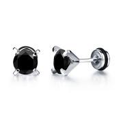 Bystar Women Fashion Titanium Steel Dimaond Earrings