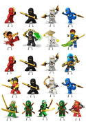 Ninjago 1 SET CAKE PARTY STANDS UP TOPPERS EDIBLE WAFER CARD x21 PIECES bb
