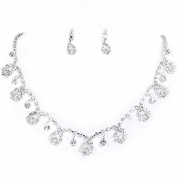 Clearbridal Women's Bridal Necklace Earrings Sets Rhinestones Jewellery for Wedding Prom Party Evening