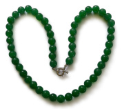 Jade necklace, Jade Malaysia, natural, round, 8mm