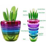 HZX Fruit Salad Cutter Citrus Juicer Grinder Kitchen Gadget Flower Pot Cooking Tools Kitchen Accessories