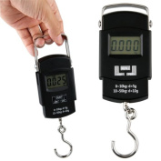 Black Digital Scale Hanging Crane Weigh Measure 50Kg*10G Hook Lcd Display Precision Portable Balance
