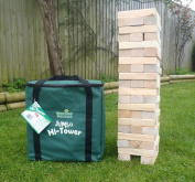 Garden Games Jumbo Hi-Tower in a Bag - Builds From . - 1.5m (max.) in play. Solid Pine Wood Tumble Tower Game