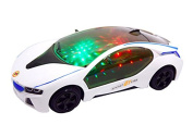 Icollect® Car Toy with LED Lights and Music - White
