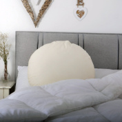 Unique Large Circular Lumbar Back Support Cushion / Pillow 60cm Spare Pillowcase ONLY in Ivory