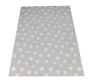 Large Highchair No Mess Splash Mat/Table Protector - Light Grey Stars