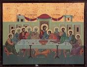 Religious Icon. Wooden Icon. Last Supper Icon Image. Greek Religious Icon. 6cms x 9cms