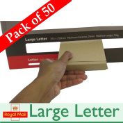 50 x Royal Mail Mini Large Letter Cardboard Postal Mailing PiP Boxes ~ 101mm x 101mm x 20mm