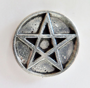 Pagan Wicca Pentagram Occult Pewter Pin Badge - Hand Made in Cornwall