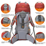 Mountaintop 70L+10L Outdoor Rucksacks/Hiking Backpacks,85.1 x 35.1 x 85.1 cm