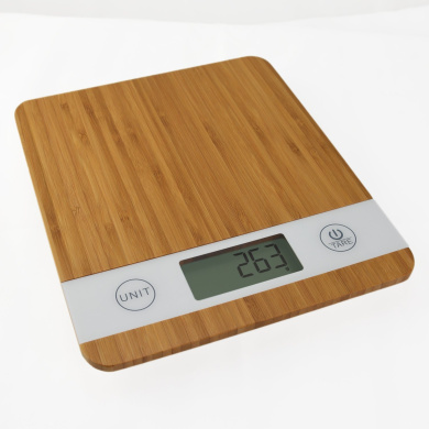 Smart Weigh KBS100 Bamboo Digital Kitchen Scale with Tare Feature