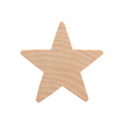 5.1cm Wood Star, Natural Unfinished Wooden Star Cutout Shape (5.1cm ) - Bag of 5
