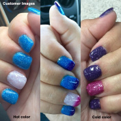 AIMEILI Soak Off UV LED Temperature Colour Changing Chameleon Gel Nail Polish - Glitter Purple to Glitter Blue Full Shimmer/ Diamond (TC06) 10ml