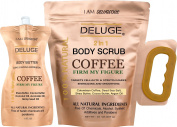 Organic Coffee Body Scrub, Tightens, Tones, Reduces Cellulite 100% Natural 300ml ++ BODY BUTTER 180ml