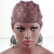 Rossy & Nancy Brown Classic Wig Liner Cap Hairstyles Different Durable Lace for Saperate Sections of Head