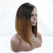 WOB Hair 8A grade Brazilian Virgin Human Hair lace front wig short brown two tone Bob Wig 130 Density 30cm 1b#/30# Ombre Colour