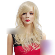 Coolsky 19cm - 50cm Heat Resistant Big wave Light Blonde Wig for Women Nature Beauty and Romantic Natural Hair Line