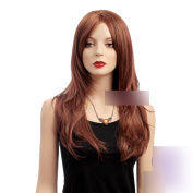 Coolsky 60cm Heat Resistant Light Brown Wig Women for Party Nature Beauty and Romantic