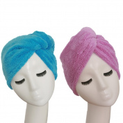 YYXR Microfiber Hair Turban Towel Wrap - Super Absorbent Drastically Reduce Hair Drying Time
