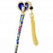 YOY Fashion Long Hair Decor Chinese Traditional Style Hair Stick Hair Pin for Women Girls Hair Making Accessory with Enamel Floral,Blue
