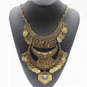 Women Bohemian Jewellery Vintage Choker Coin Statement Necklace Wensltd