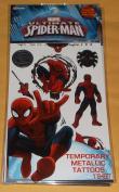 Marvel Ultimate Spider-Man Temporary Tattoos - 10 Metallic Spiderman Temporary Tattoos