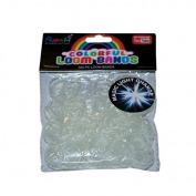 ASAH Colour Loom Bands 300pce + 16 S Clips - UV to blue