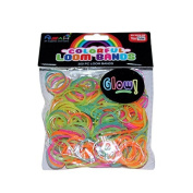 ASAH Colour Loom Bands 300pce + 16 S Clips - Glow in the Dark