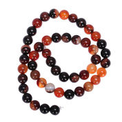 "AAA Natural Brown and Orange Agate 6mm Gemstone Round Loose Beads For Jewellery Making 15.5"" (1 strand) GC8-6"