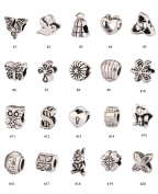20pcs Mixed Charms Beads Antique Silver Tone Fits Pandora Biagi Troll Chamilla Other European Charm Bracelet #MEC1-20