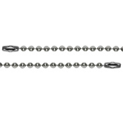 Miraclekoo Stainless Steel Ball Chain -24 Inch 2.4mm Ball Military Dog Tag Necklace ,10 Pcs