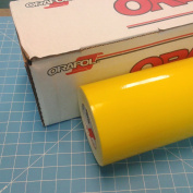 60cm x 3m Roll of Glossy Oracal 651 Yellow Vinyl for Craft Cutters and Vinyl Sign Cutters