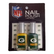 Officially Licenced NFL Green Bay Packers Nail Polish with Decals