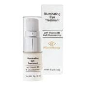 Kiara Beauty Illuminating Eye Treatment with Vitamin B and Glucosamine, 10ml Pump Bottle