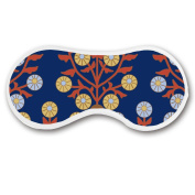 Promini Floral Whorl Sleep Mask with Strap Lightweight Comfortable Eye Mask for Bedtime or Relaxation, Travel, Shift Work, Meditation