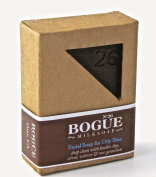 Bogue Milk Soap - No.26 Facial Bar for Oily Skin - Excess Oil and Toxin Removing Citrus, Vetiver and Rose Geranium Essential Oils with Kaolin Clay