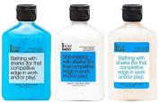 Body Wash, Exfoliating Scrub & Lotion Gift Set - Beach & Sky Blue Water - Achievement Through Self-Confidence