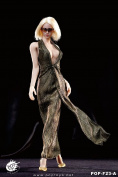 1/6 F23 POPTOYS / Famle Action Figure Dress / Monroe Evening Dress Golden