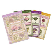 Hunkydory Garden Flowers of Britain Little Folder of Flowers Envelope Notelet Set Premium Card Kit