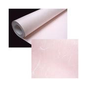 Korean Traditional Mulberry Paper HanJi Roll Various Colours & Spots Fibres Texture Light Pink 100cm x 1600cm
